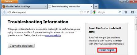 Troubleshooting information-reset firefox