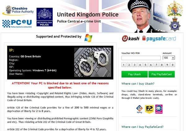 Remove United Kingdom Police Scam (Android Lock Virus)
