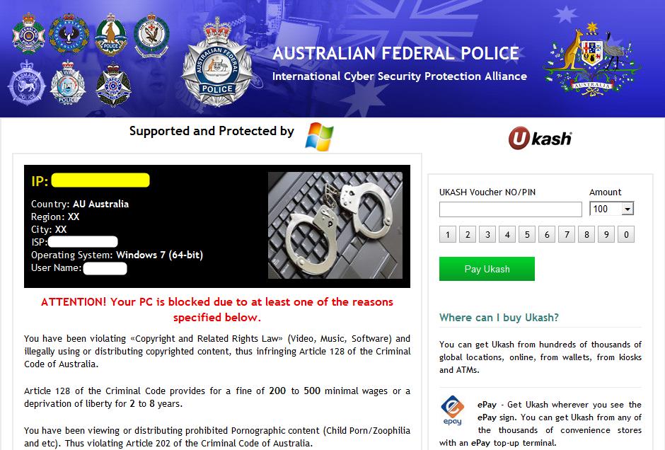 australian federal police virus removal mac