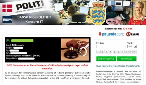Dansk Rigspolitiet virus