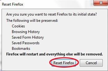 reset firefox3