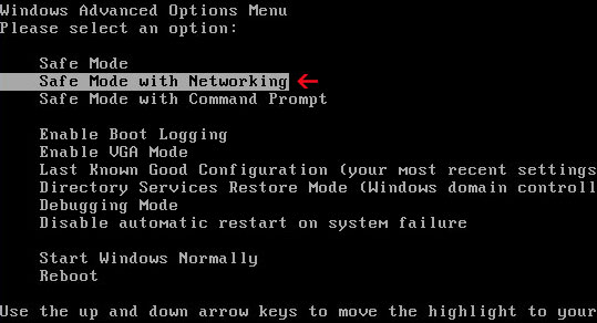 safe-mode-with-networking