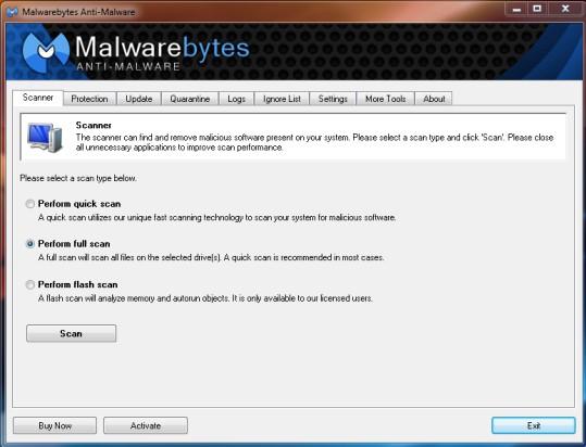 remove malwarebytes windows 10