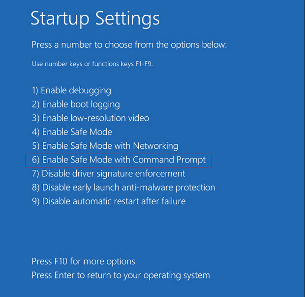 win8 safe mode with prompt
