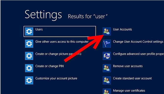 win8 user accounts