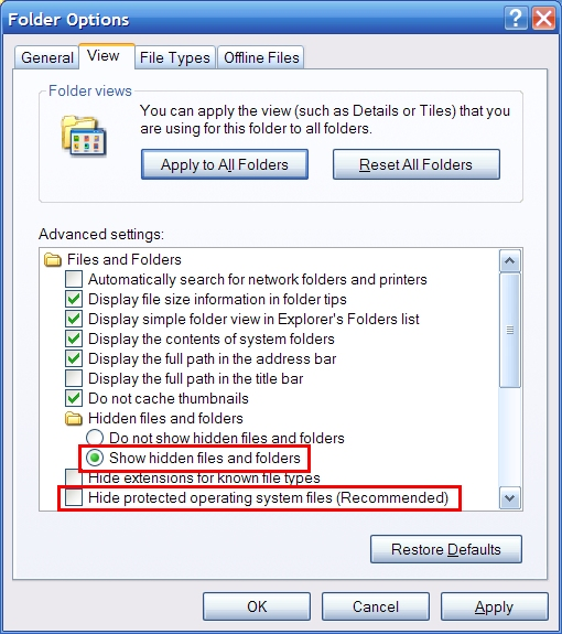 how to delete temp hidden files