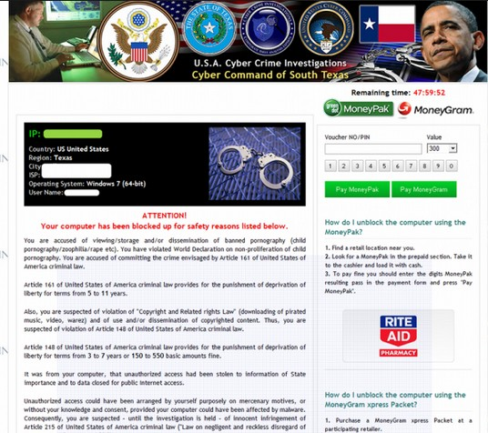 Cyber Command of South Texas virus