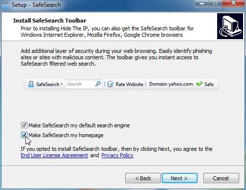 SafeSearch-installation