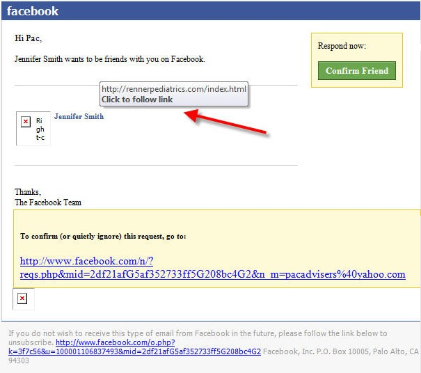 facebook request virus