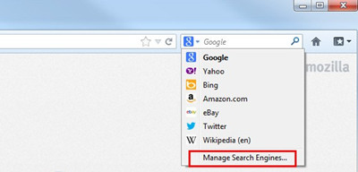 MozillaFirefox manage search engines