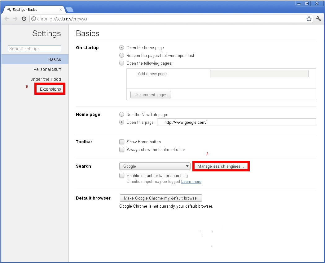 Manage Add On In Chrome