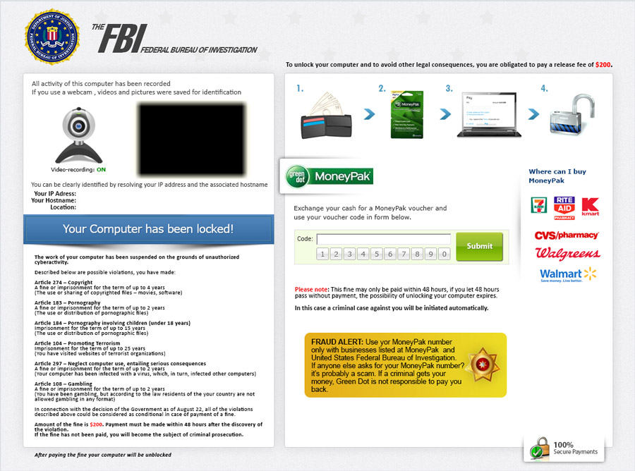 Remove FBI GreenDot MoneyPak Virus, FBI Android Ransomware
