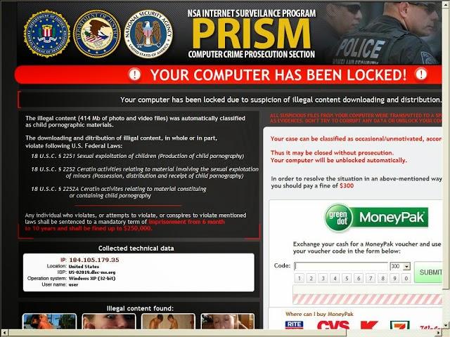 remove computer crime prosecution section virus ransomware. Black Bedroom Furniture Sets. Home Design Ideas