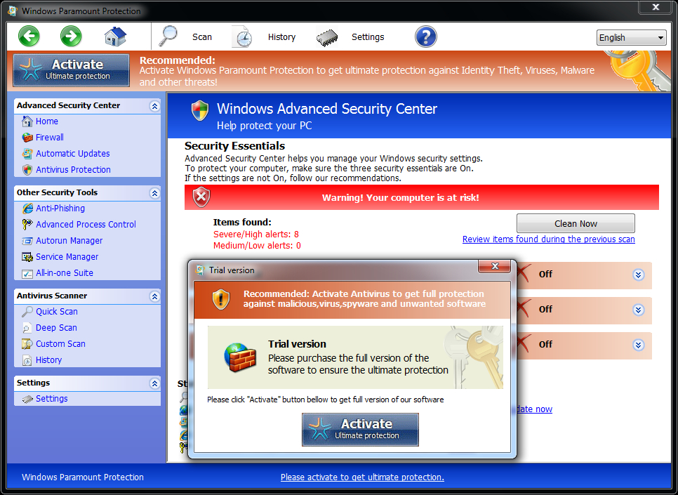 Windows-Paramount-Protection