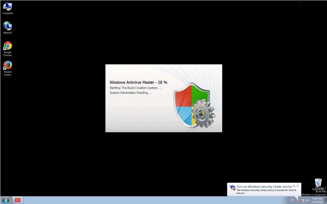 antivirus fake loading