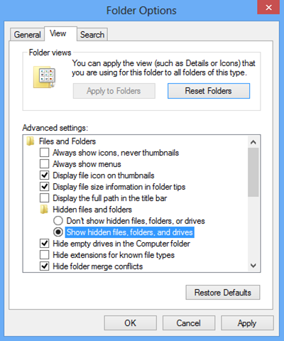 folder options-win8