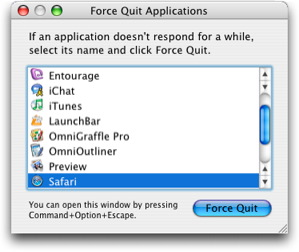 force quit MyPC Backup on Mac