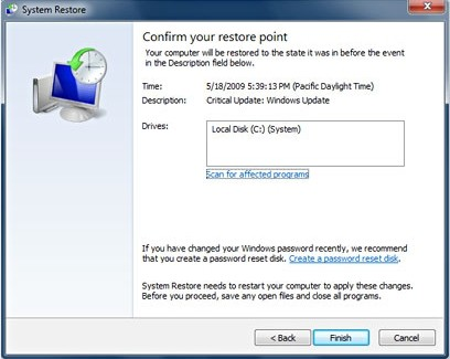 win7 system restore