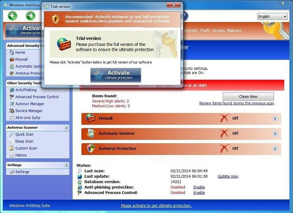 activate antivirus manually
