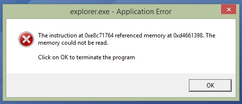 fix explorer error