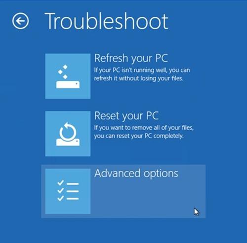 use win8 troubleshoot