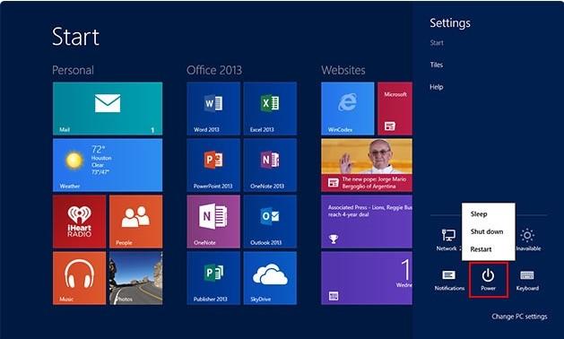 restart Windows8 to remove  Trojan.Zekos.Patched in Safe Mode