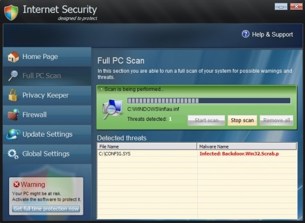 remove Internet Security Pro