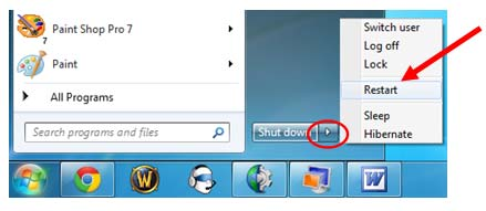 restart Windows 7/Vista/XP to remove HEUR:Trojan.Script.Generic