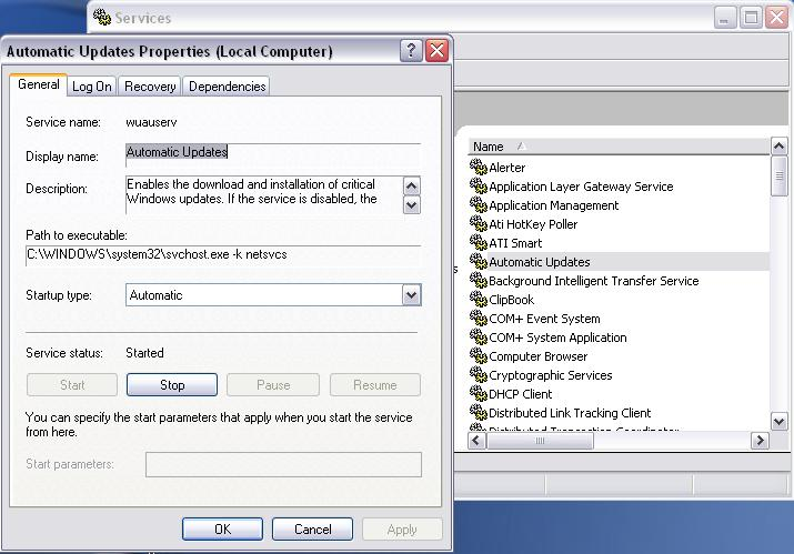 access servic property to help locate Internet Security Pro's service