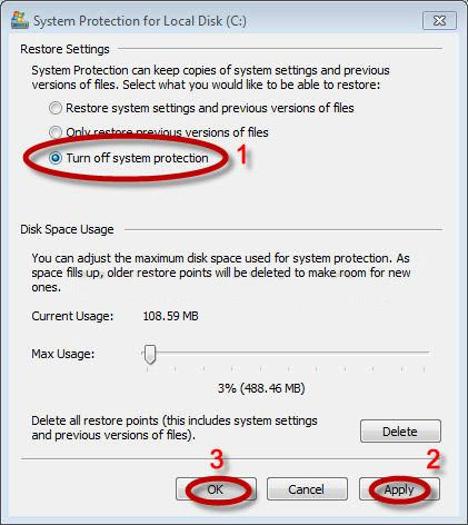 turn off system restore to stop HEUR:Trojan.Script.Generic from re-appearing