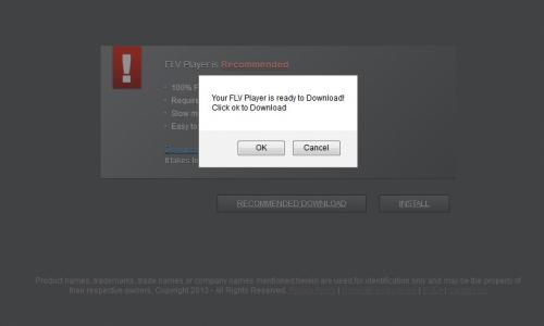stop FLV Player update popup