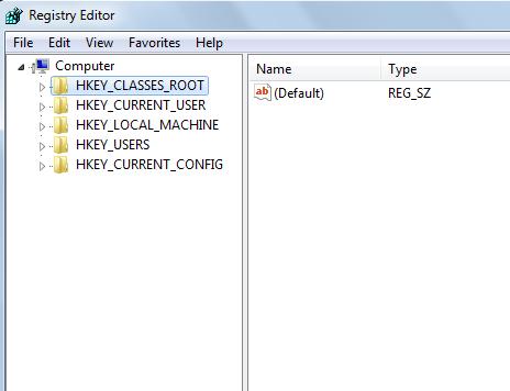 registry root