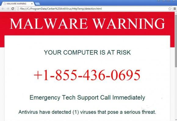 VilmaTech helps remove Cerber Antivirus that Gives Deceptive Virus Warning