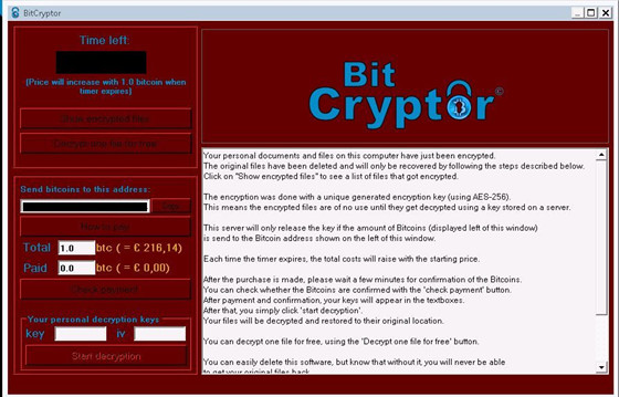 Remove Bit Cryptor Ransomware, Fix Encrypted Virus on