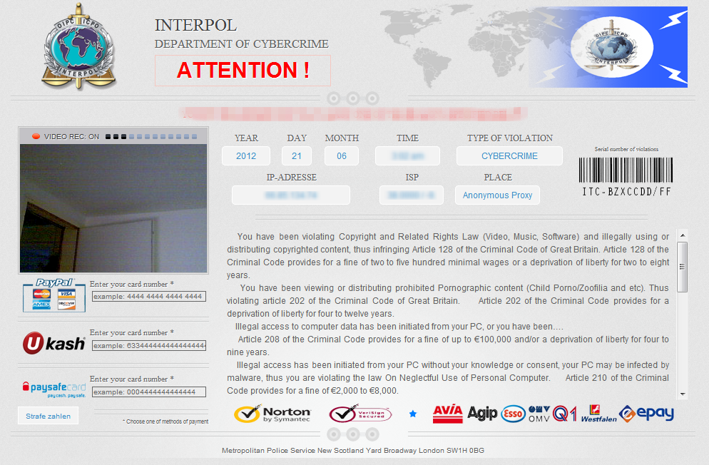 Interpol Virus Entfernen
