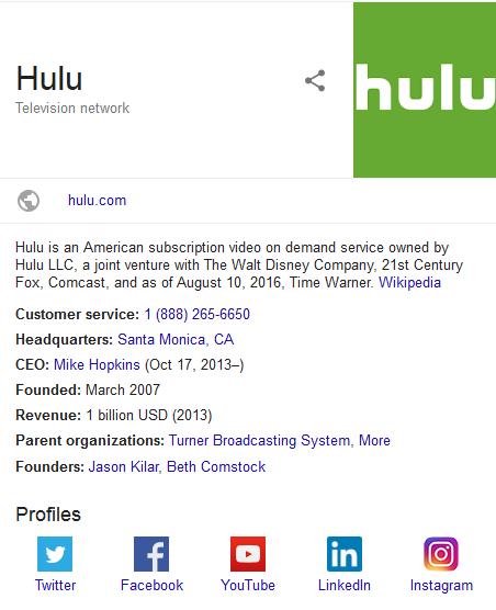 Hulu parent organizations