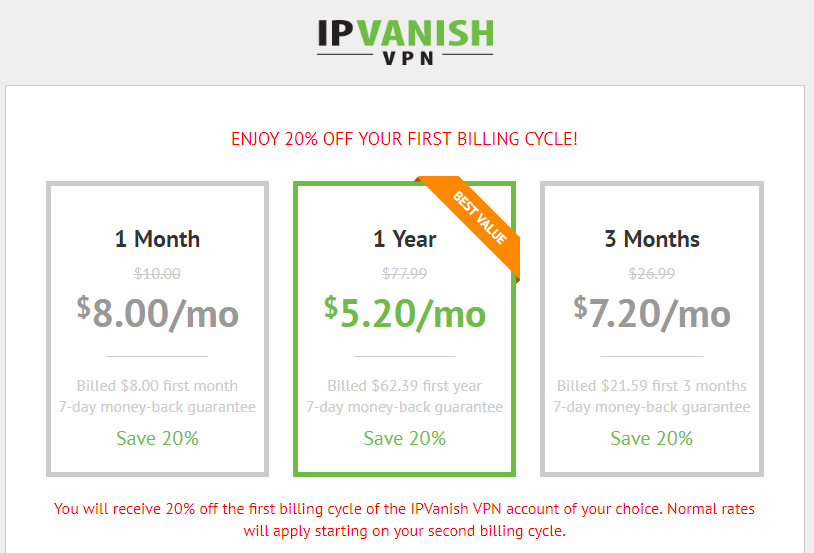 Ipvanish promo code 60 off coupon code 2018 vilmatech expert guides with 20 off ipvanish coupon code all plans will save much than ever you can view the price list discounted by 20 off fandeluxe Gallery
